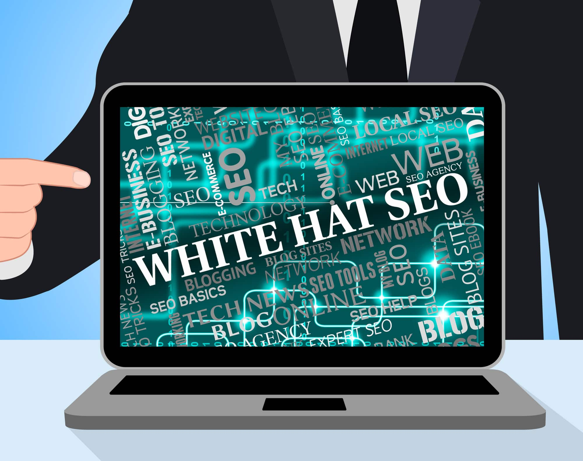 White Hat Seo Meaning Search Engine And Notebook